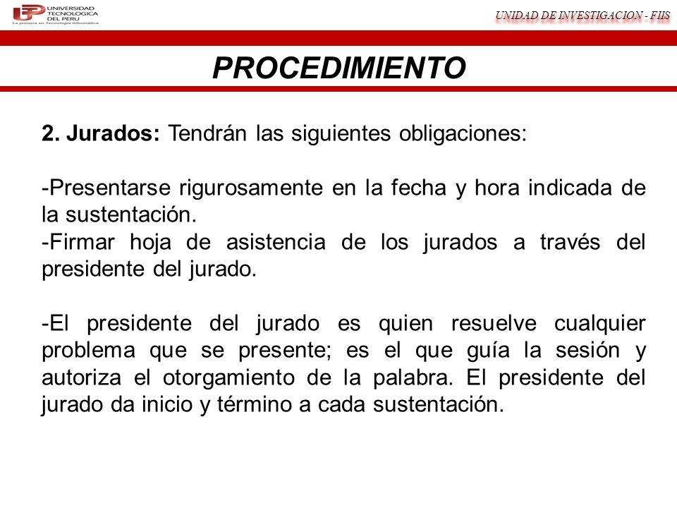 UNIDAD DE INVESTIGACION - FIIS 2.