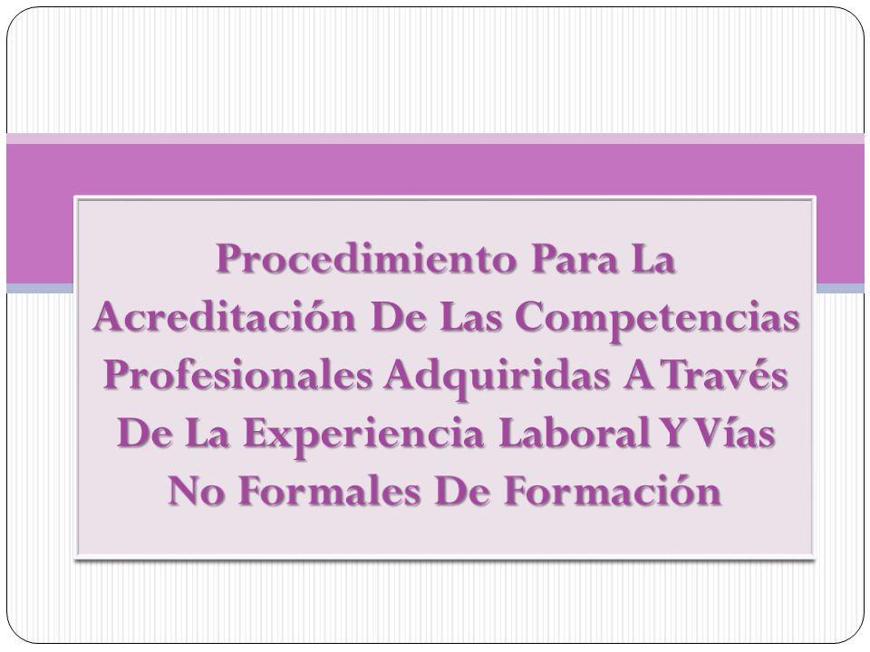 Competencia Profesional Capacidad de realizar las actividades correspondientes a una profesión conforme a los niveles esperados en el empleo.