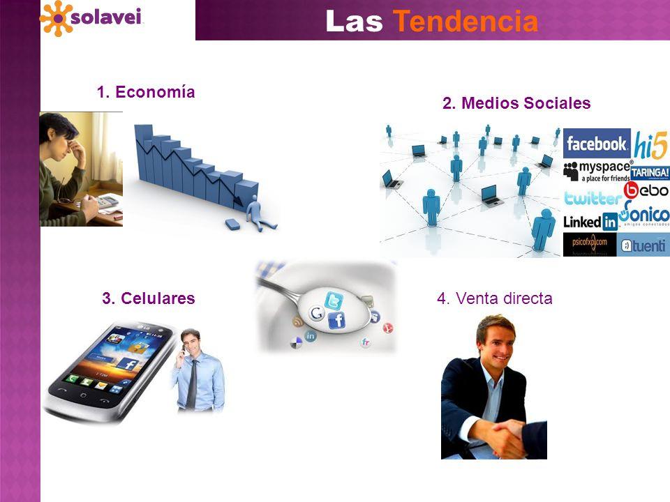 Las Tendencia 3. Celulares 1. Economía 4. Venta directa 2. Medios Sociales
