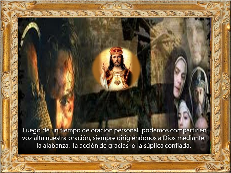 todos los hombres y mujeres.. Jesús es el rey que ha tomado la condición de esclavo para mostrarnos en qué consiste el plan de Dios, su voluntad a fav