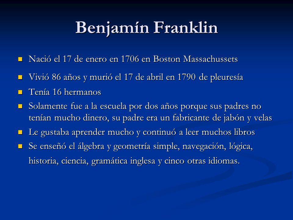 La Electricidad Franklin estaba encantado con la electricidad Franklin estaba encantado con la electricidad Franklin sospechó que el relámpago era una corriente eléctrica en naturaleza, y él deseó ver si él tenía razón.