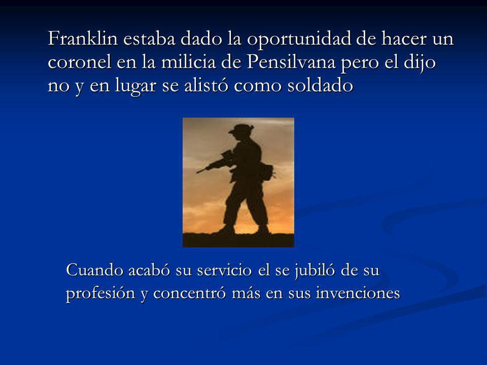 Franklin Como Politico 1778 - Franklin ayudó al gobierno de Francia firmar un tratado de la alianza con los americanos.