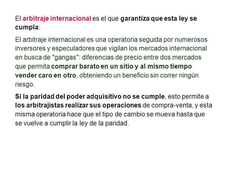 El arbitraje internacional es el que garantiza que esta ley se cumpla: El arbitraje internacional es una operatoria seguida por numerosos inversores y