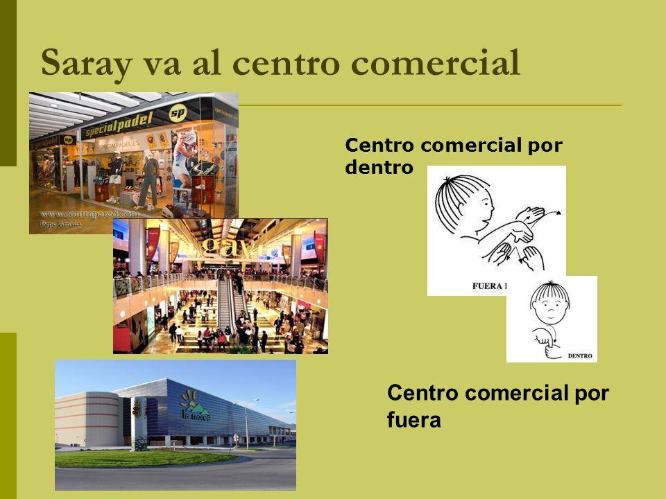 Saray va al centro comercial Centro comercial por dentro Centro comercial por fuera