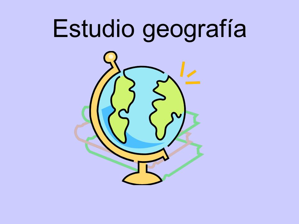 Estudio geografía