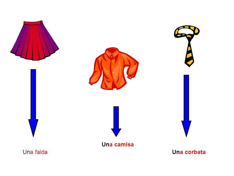 Una falda Una camisa Una corbata