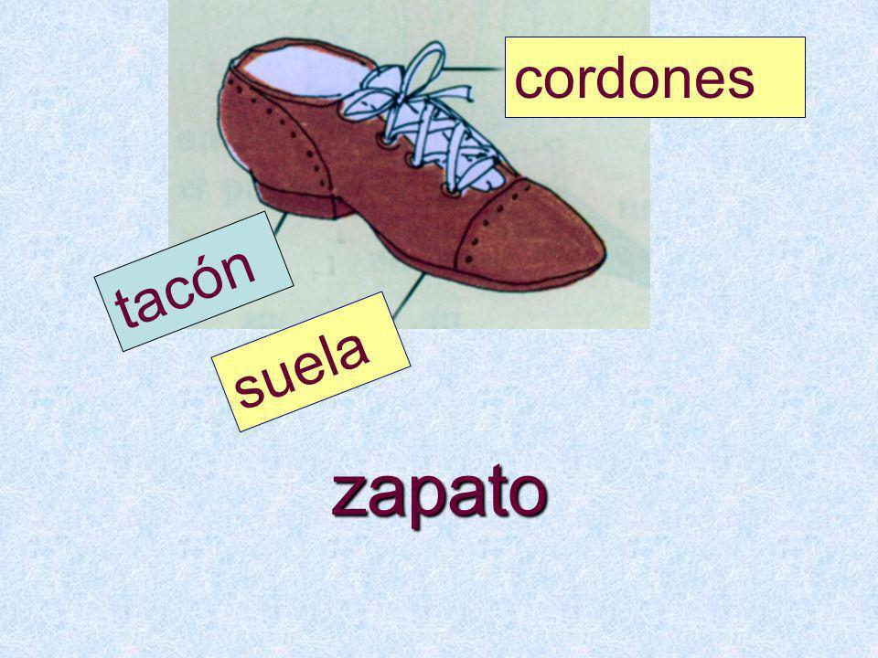 zapato suela tacón cordones