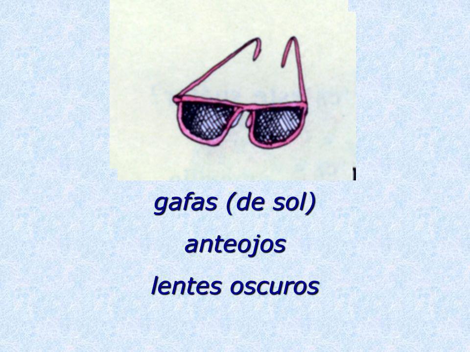 gafas (de sol) anteojos lentes oscuros