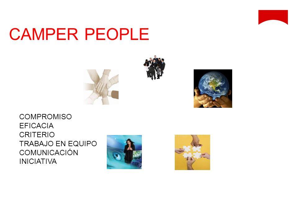 COMPROMISO EFICACIA CRITERIO TRABAJO EN EQUIPO COMUNICACIÓN INICIATIVA CAMPER PEOPLE