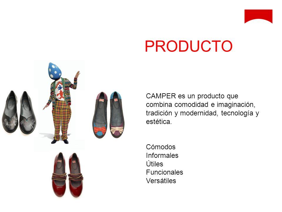 CAMPER es un producto que combina comodidad e imaginación, tradición y modernidad, tecnología y estética. Cómodos Informales Útiles Funcionales Versát