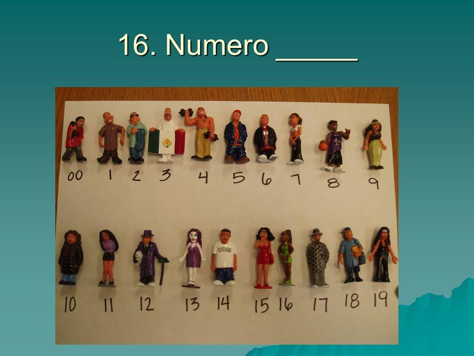 16. Numero _____