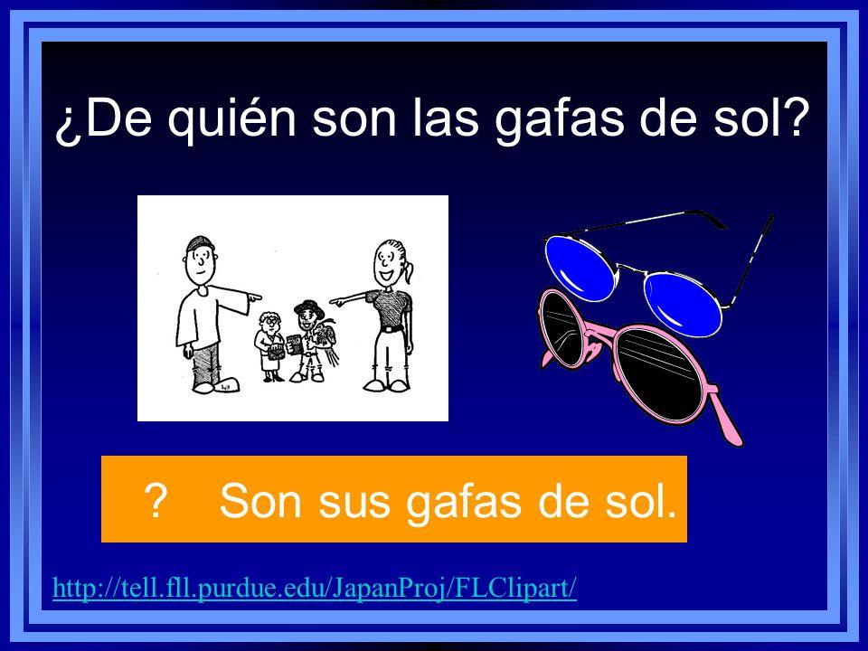 http://tell.fll.purdue.edu/JapanProj/FLClipart/ ?Son sus gafas de sol.