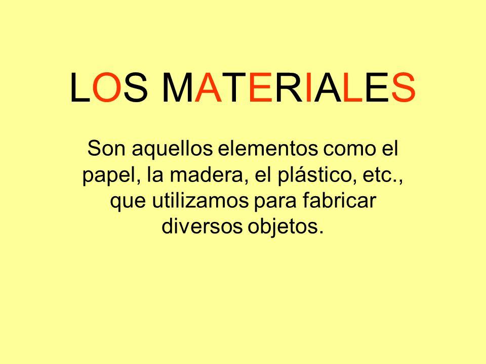 Ejemplo: Lápiz Grafito Materiales: Madera: Es semidura, puesto que se puede quebrar con cierta facilidad.