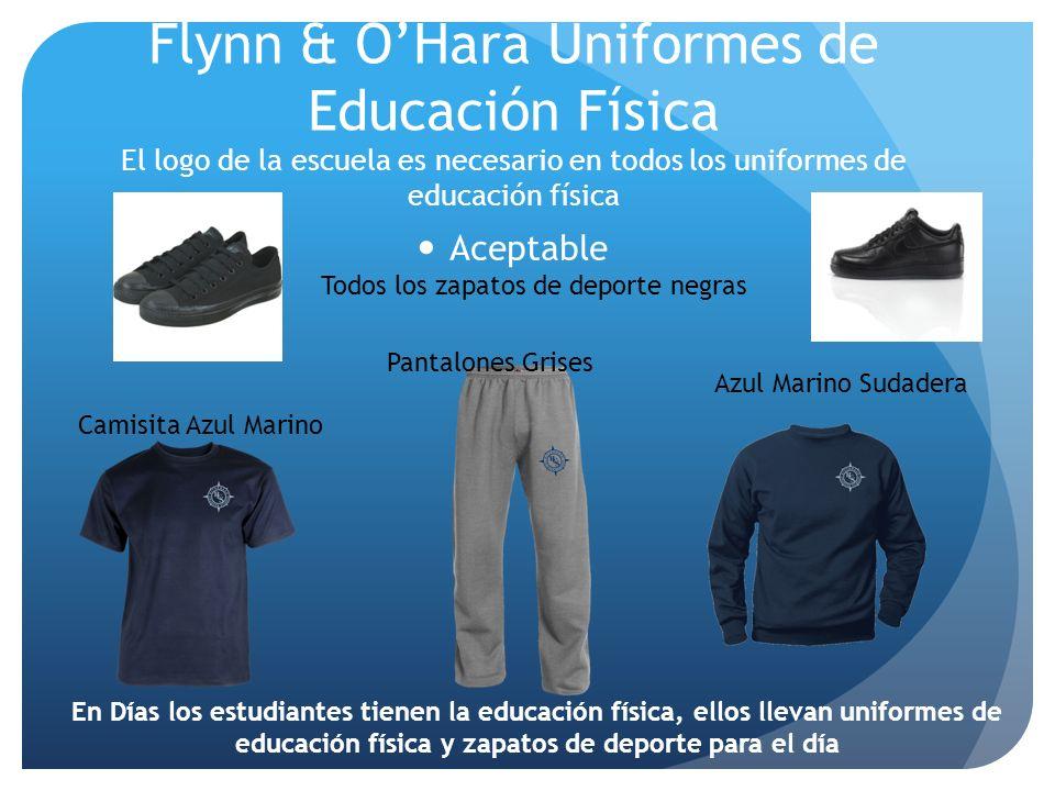 Flynn & OHara Uniformes de Educación Física El logo de la escuela es necesario en todos los uniformes de educación física Pantalones Grises Camisita A