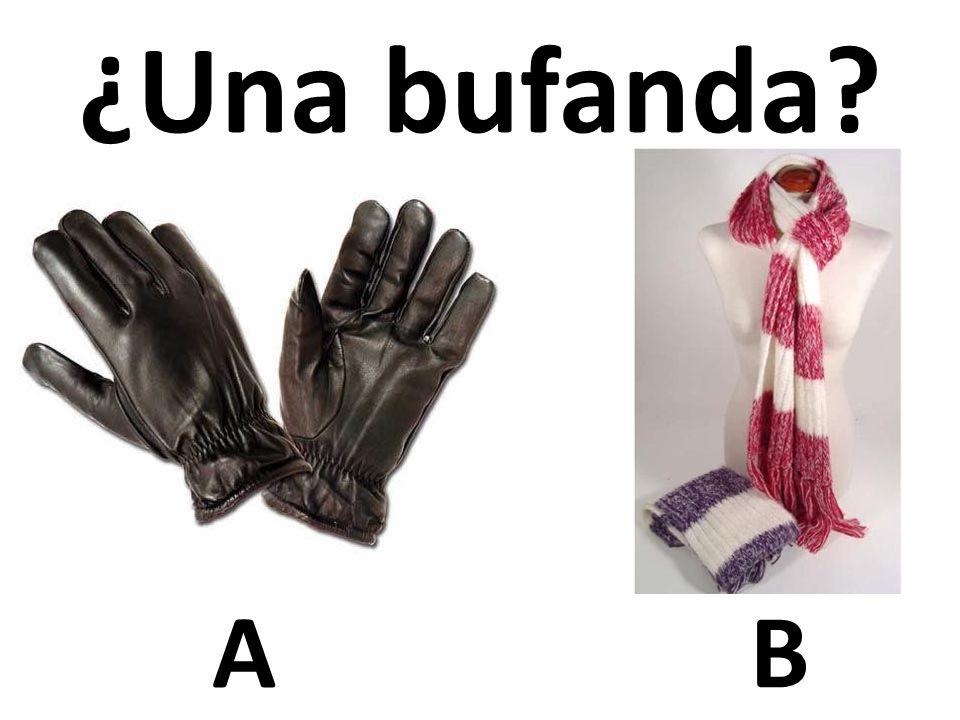 AB ¿Una bufanda?