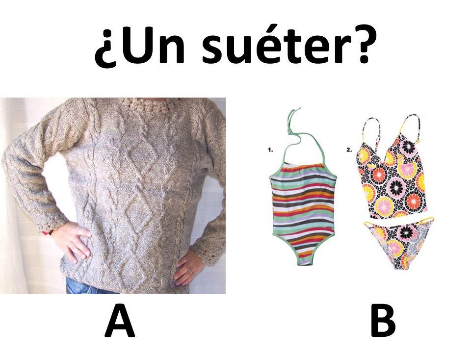 AB ¿Un suéter?