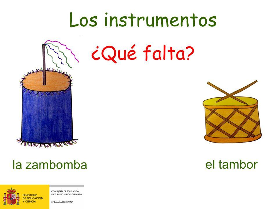 la zambomba el tamborla pandereta Los instrumentos Fíjate bien