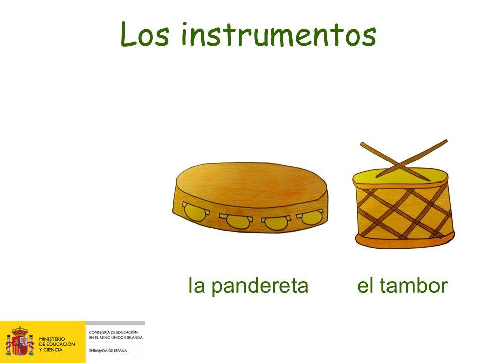la zambomba el tambor Los instrumentos ¿Qué falta?