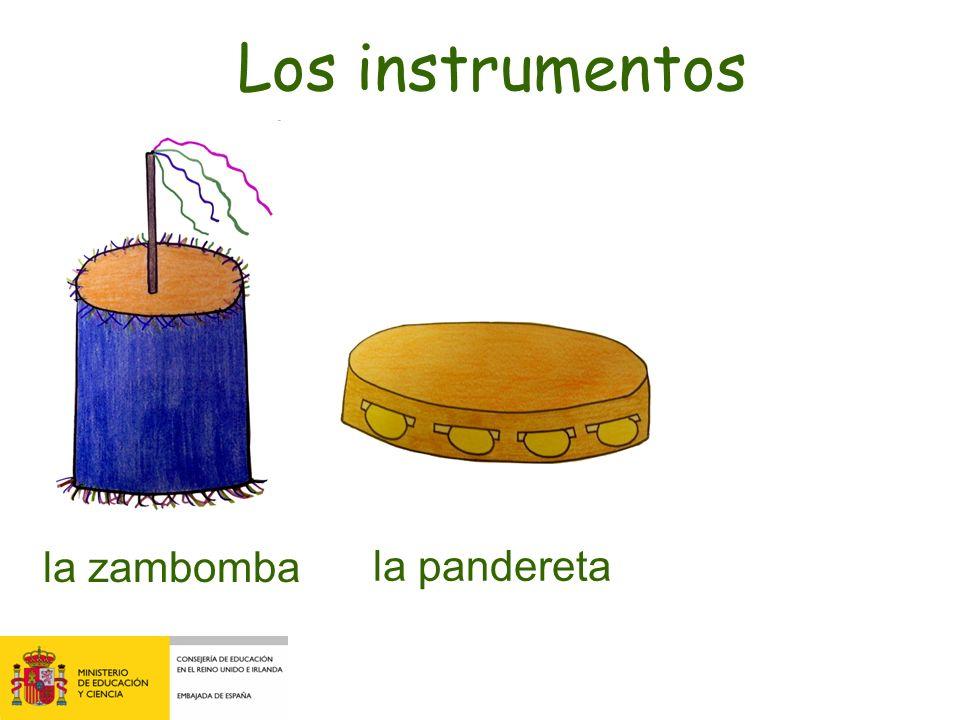 el tamborla pandereta Los instrumentos