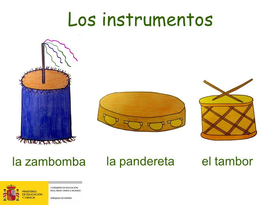 la zambomba la pandereta Los instrumentos