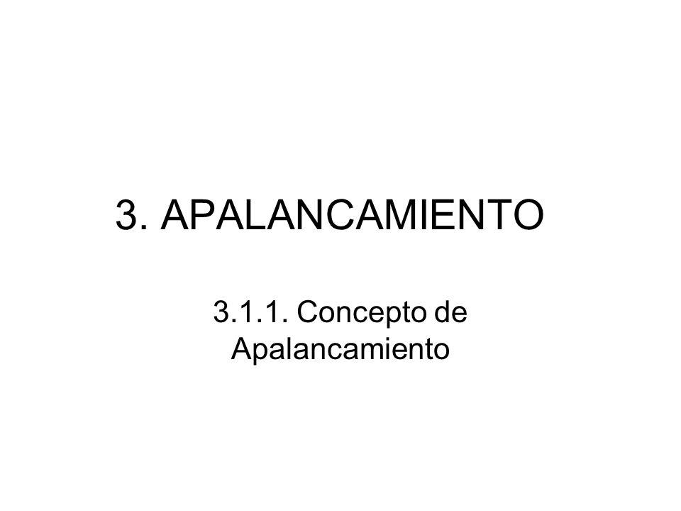 3. APALANCAMIENTO 3.1.1. Concepto de Apalancamiento
