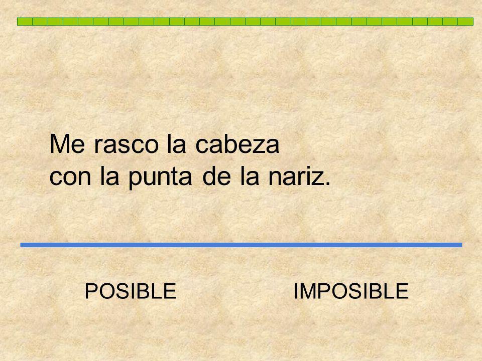 POSIBLE E IMPOSIBLE Autor pictogramas: Sergio Palao Procedencia: ARASAAC (http://catedu.es/arasaac/) Licencia: CC (BY-NC-SA) Modificado para Centro Es