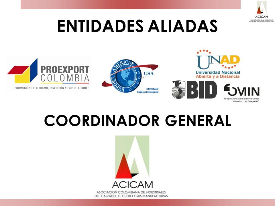 ENTIDADES ALIADAS COORDINADOR GENERAL