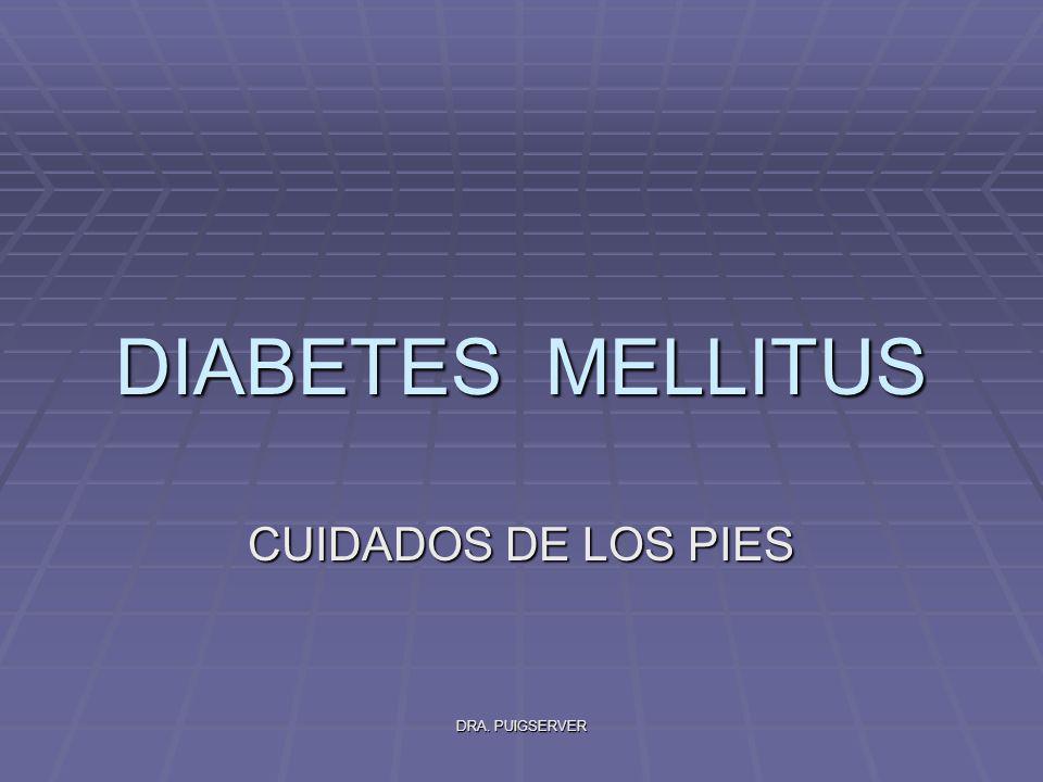 DRA. PUIGSERVER DIABETES MELLITUS CUIDADOS DE LOS PIES