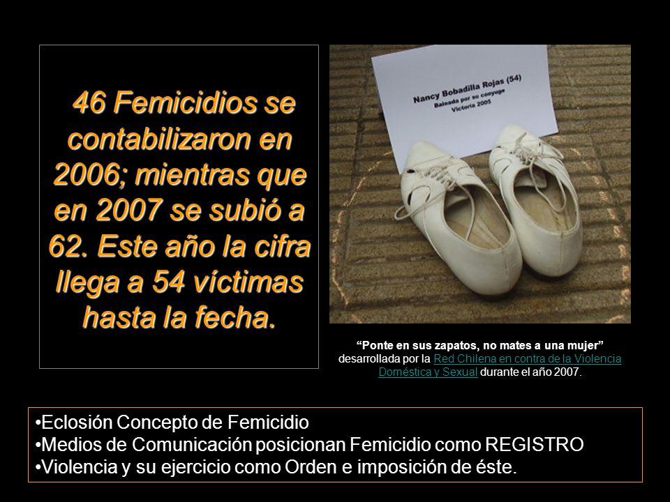 46 Femicidios se contabilizaron en 2006; mientras que en 2007 se subió a 62.