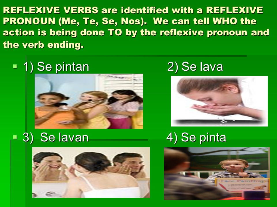 Repaso: Conjugating a reflexive verb #1) Take off the reflexive pronoun (se) from the ending of the verb.
