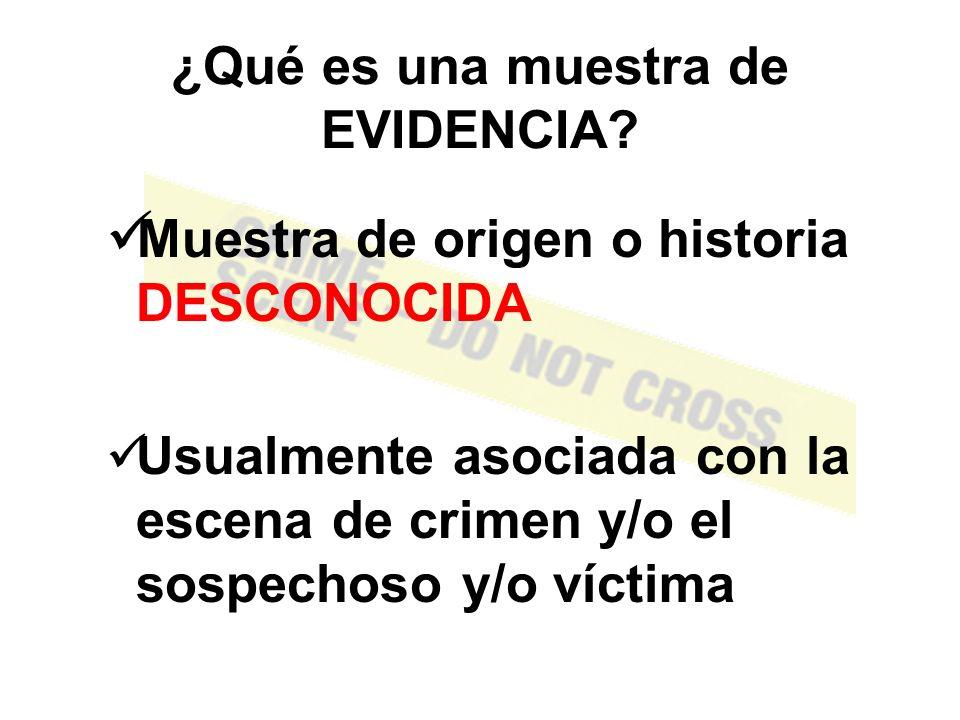 Por lo tanto, basados en que cada contacto deja una pista, la escena de crimen puede ofrecer evidencia del ofensor y el ofensor puede ofrecer evidencia de la escena