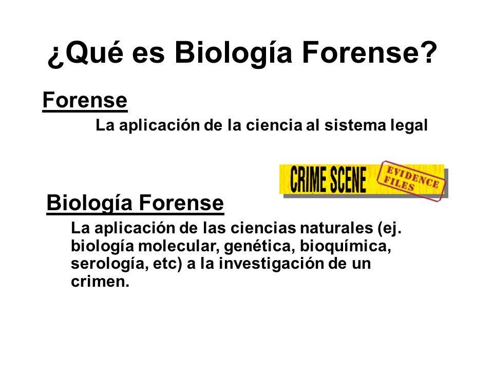 ¿Qué es Biología Forense.