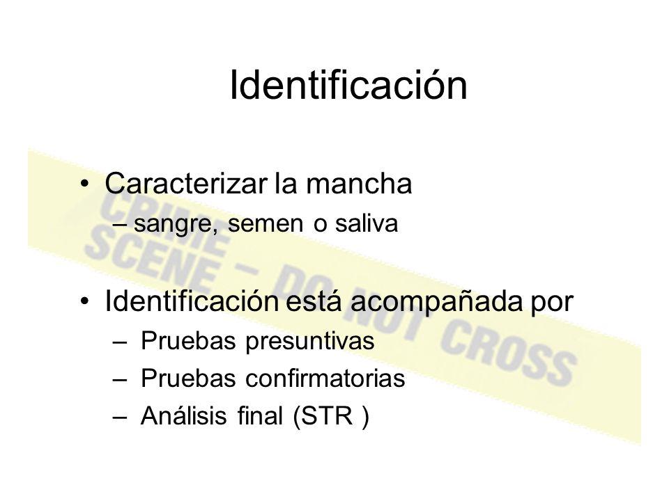 Detección Localizando el material biológico Luz/Luminol Tocar www.crimelibrary.com