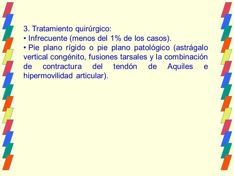 3.Tratamiento quirúrgico: Infrecuente (menos del 1% de los casos).