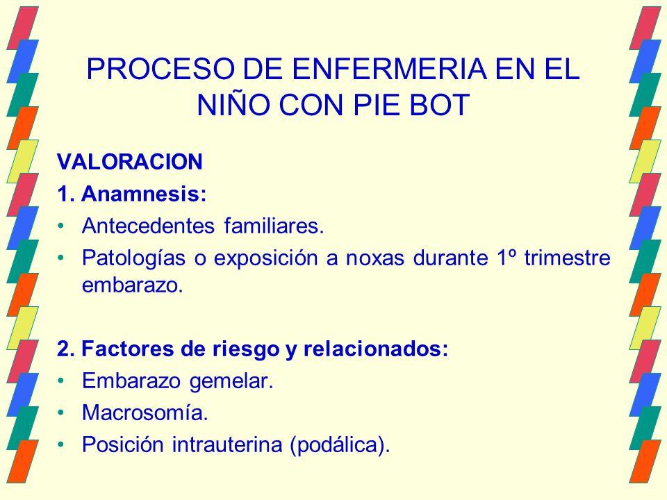 PROCESO DE ENFERMERIA EN EL NIÑO CON PIE BOT VALORACION 1.