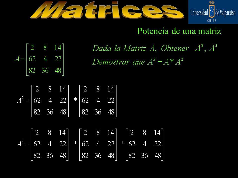 Potencia de una matriz