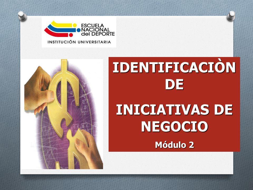 IDENTIFICACIÒN DE INICIATIVAS DE NEGOCIO Módulo 2