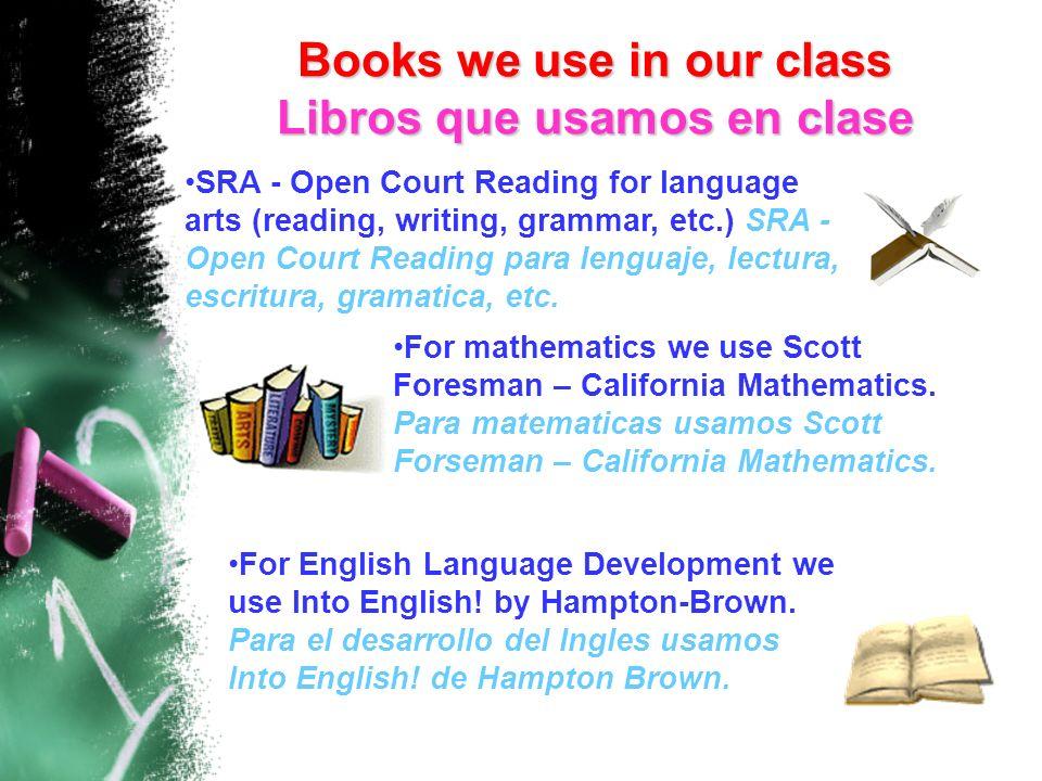 SRA - Open Court Reading for language arts (reading, writing, grammar, etc.) SRA - Open Court Reading para lenguaje, lectura, escritura, gramatica, et