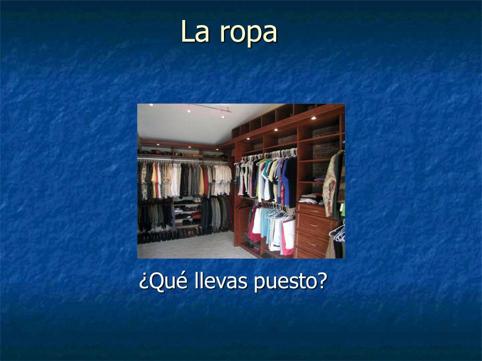 La ropa ¿Qué llevas puesto?
