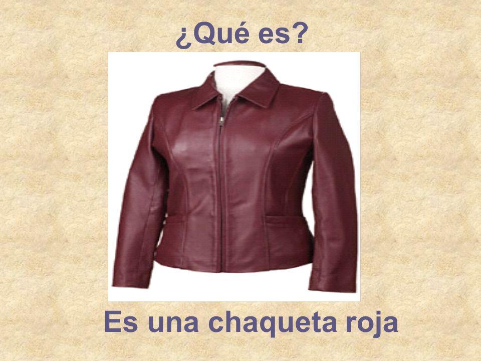 ¿Qué es? Es una chaqueta roja