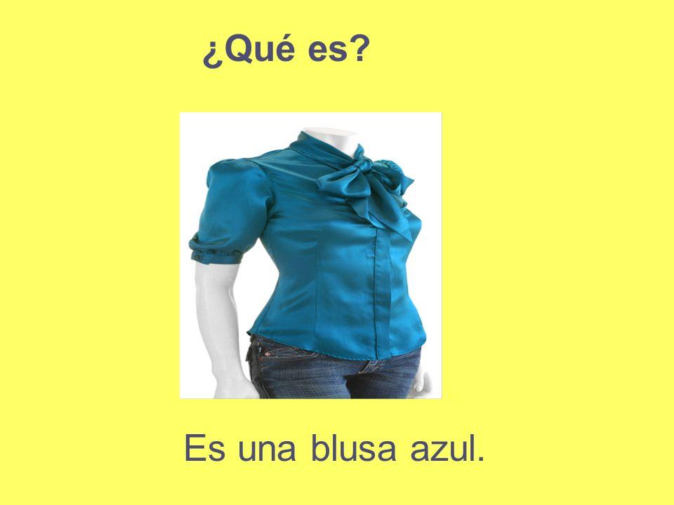Es una blusa azul. ¿Qué es?