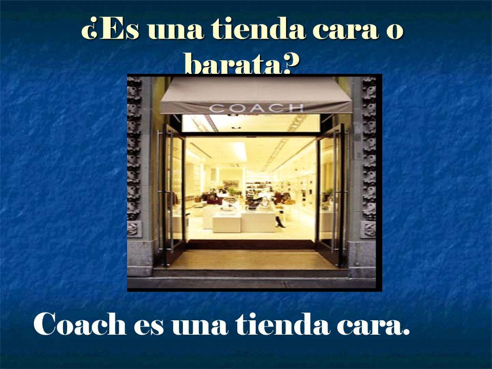 ¿Es una tienda cara o barata? Coach es una tienda cara.