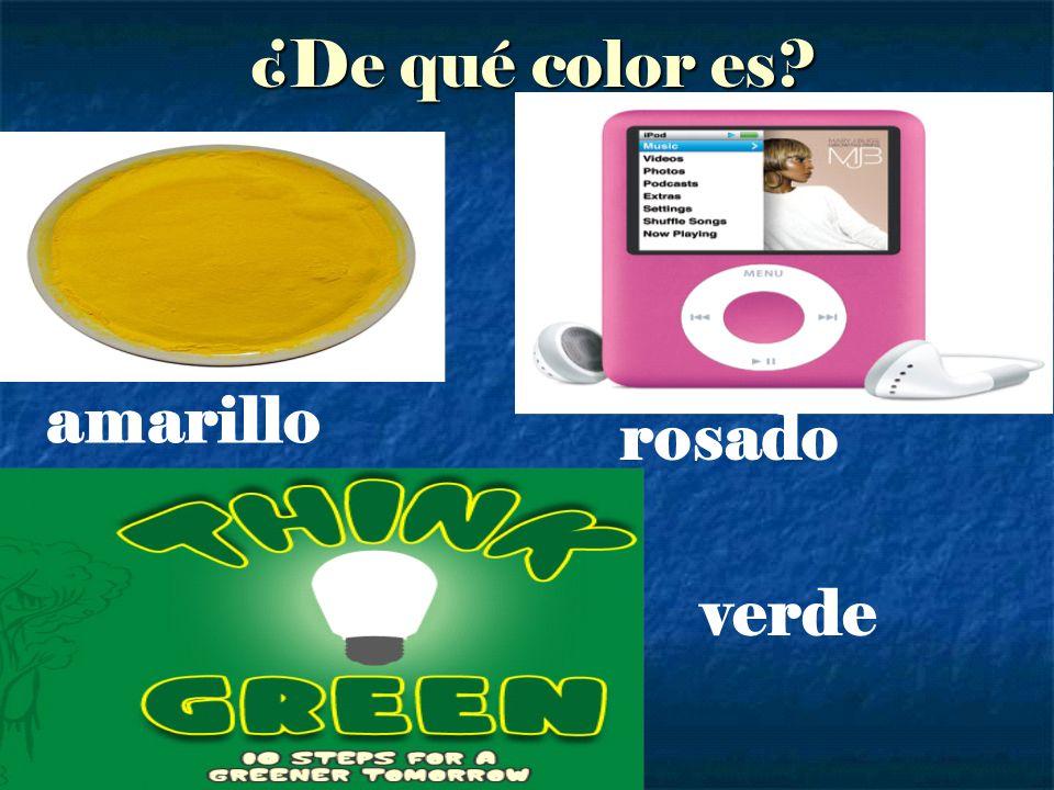 ¿De qué color es? amarillo rosado verde
