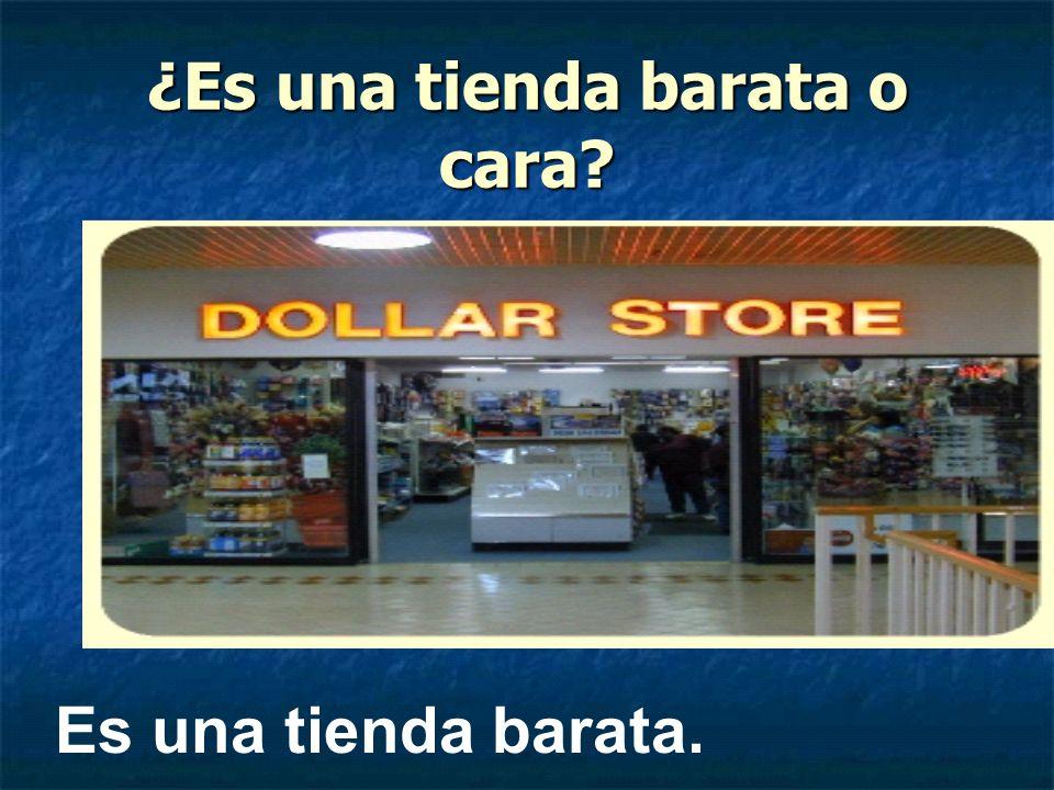 ¿Es una tienda barata o cara? Es una tienda barata.