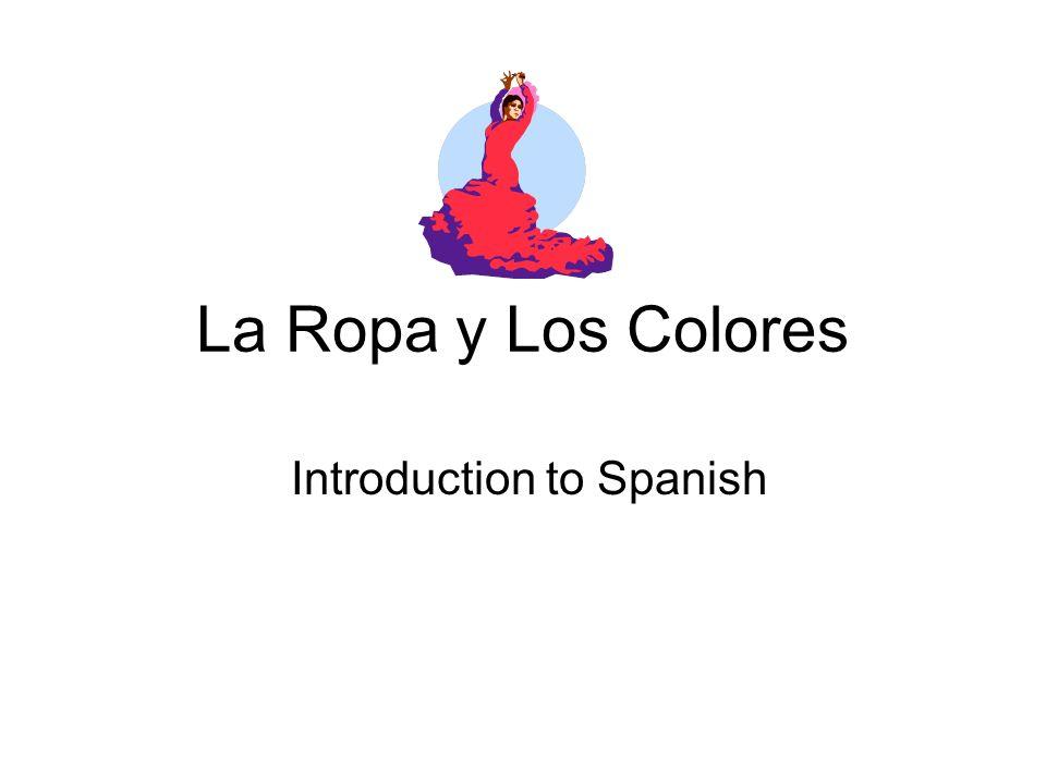 La Ropa y Los Colores Introduction to Spanish