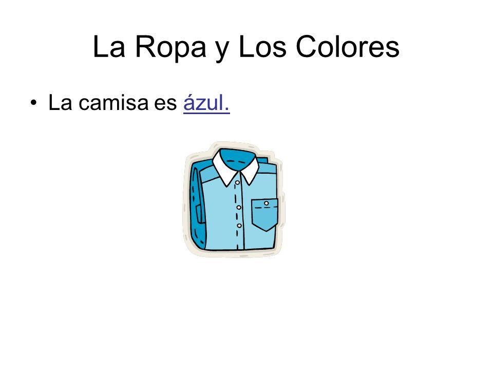 La Ropa y Los Colores La camisa es ázul.