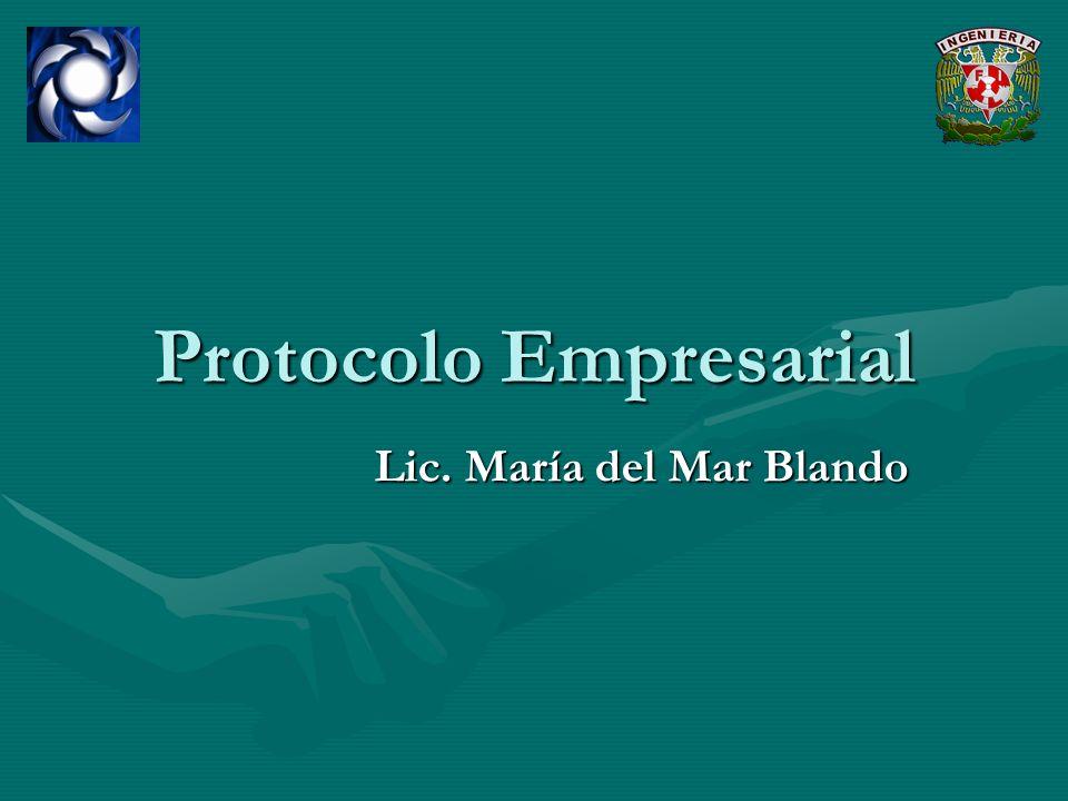 Protocolo Empresarial Lic. María del Mar Blando