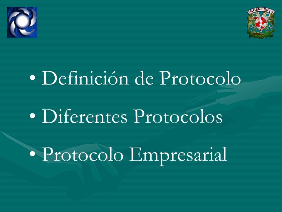 Definición de Protocolo Diferentes Protocolos Protocolo Empresarial