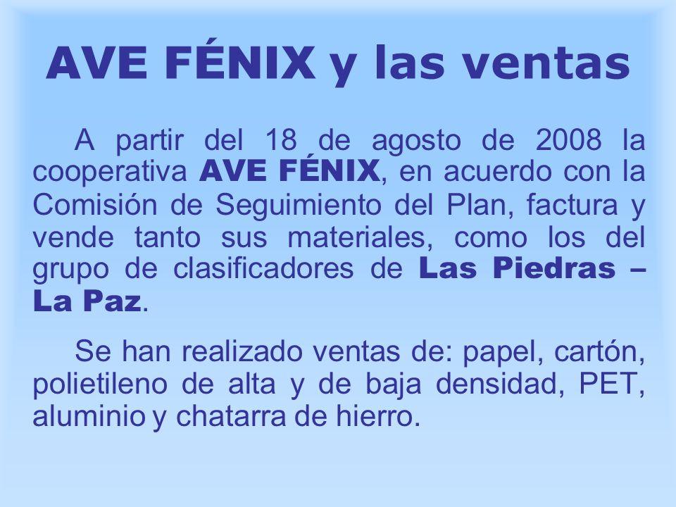 AVE FÉNIX y las ventas A partir del 18 de agosto de 2008 la cooperativa AVE FÉNIX, en acuerdo con la Comisión de Seguimiento del Plan, factura y vende