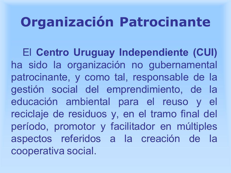 Organización Patrocinante El Centro Uruguay Independiente (CUI) ha sido la organización no gubernamental patrocinante, y como tal, responsable de la g